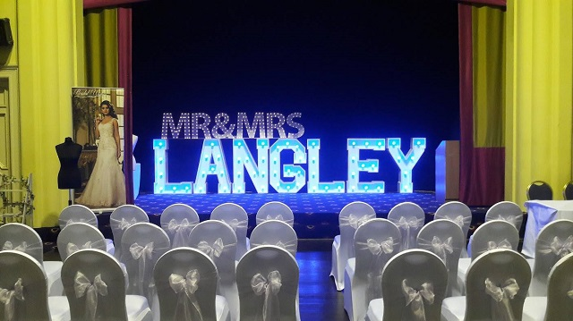 MR&MRS LANGLEY in blue